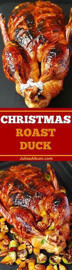 Step-by-step photos on how to cook duck. Juicy meat, crispy skin glazed with the honey-balsamic glaze. #Christmas #dinner