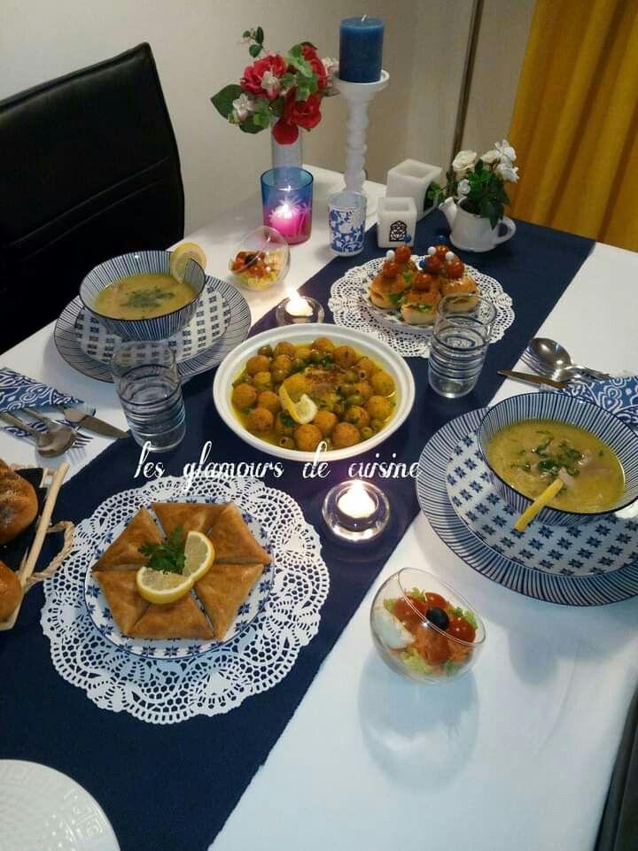 Table Algerienne Ramadan Recipes Dishes Food