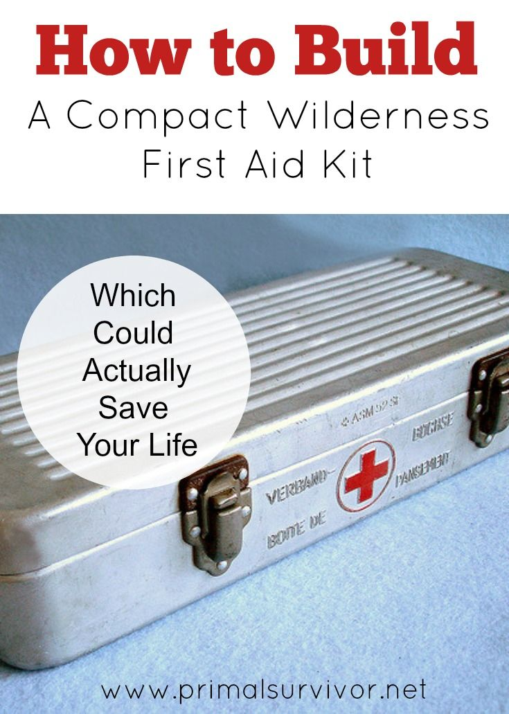 How to Build a Compact Wilderness First Aid Kit which Could Actually Save  Your Life. I've looked at a lot of wilderness first aid kits and, for the most part, I am really disappointed by them. There is almost always something missing from the first aid kit or they are really impractical (like being too big to carry). This is scary when you think that people are relying on these first aid kits to help them survive in an emergency wilderness situation! So I decided to make a guide about how…
