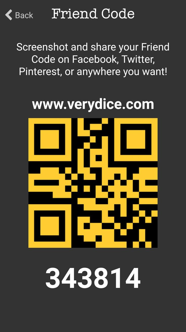 Download the very dice app and use my friend code and it