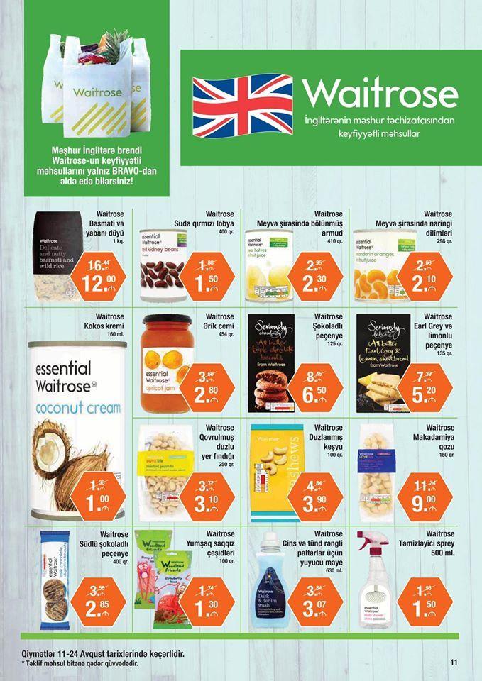 Eksklüziv olaraq sadəcə Bravo-da təqdim edilən məşhur İngiltərə brendi Waitrose-un promo-məhsulları! Promo-products by Waitrose, famous British brand presented exclusively at Bravo!