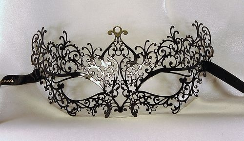 BLACK VENETIAN LUXURY METAL MASK , ELEGANT MASQUERADE MASK, MARDI GRAS MASK | eBay