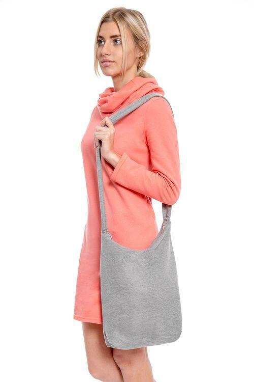 torba dresowa AURENA listonoszka z bawełny, ekotorba na zamek