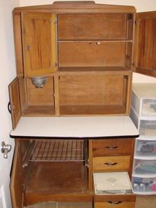 vintage kitchen hoosiers | ANTIQUE-KITCHEN-HOOSIER-STYLE-CABINET-2-PIECE-CUPBOARD-ENAMAL-SHELF ...