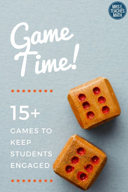 Lots of math games and ideas to keep kids active and learning during class.