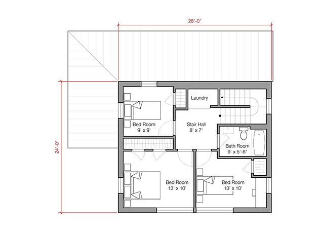 The 1 500 square foot prefab house plan offers energy for Cost 1500 sq ft prefab home