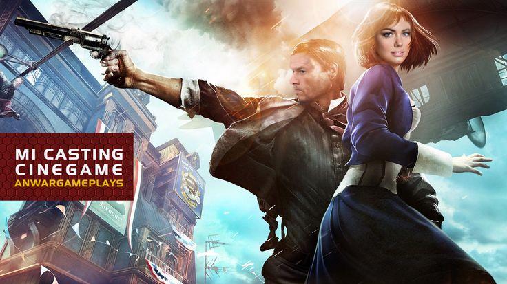Mark Wahlberg y Kate Upton como Booker y Elizabeth (Bioshock Infinite)