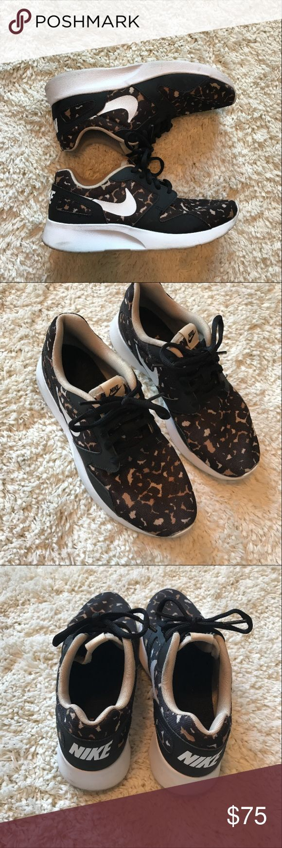 Nike sneakers Black brown leopard print. Kaisha print Nike Shoes Athletic Shoes