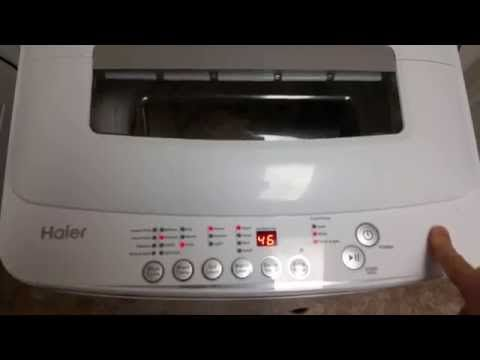 Haier 2.3 cu. ft. HLP28E Compact Washing Machine Review Portable Washer - YouTube