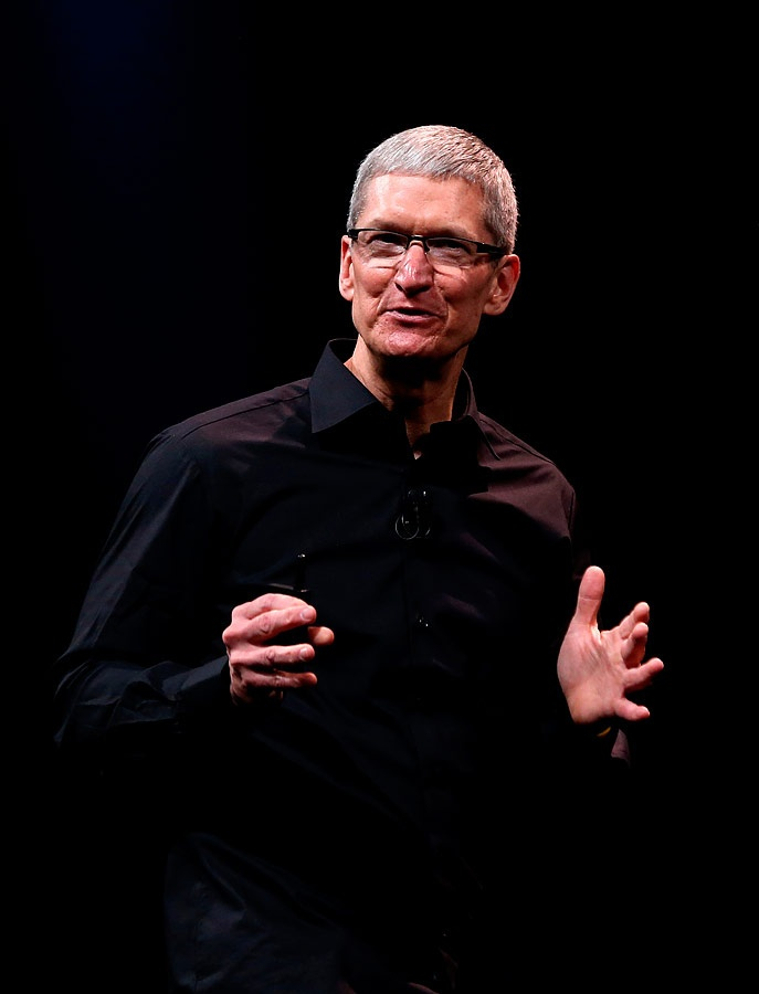 Tim Cook presenta el nuevo iPhone 5. El primero fue lanzado en el año 2007.