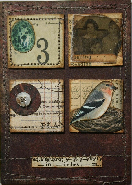 """""""bird collage"""" ... """"ATC vintage inchies TRADED"""" by Kate, thekathrynwheel, on Flickr (2008) .......ok so I had to look up inchies and ATC because apparently I'm out of touch with these trends! inchies: http://www.craftster.org/forum/index.php?topic=303188.0#axzz2ldVV2mnu and ATC: http://en.wikipedia.org/wiki/Artist_trading_cards ...I would love to get into this artist trading card thing!"""