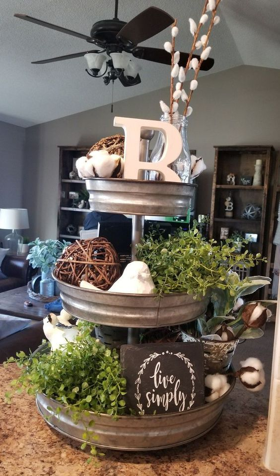 45 Awesome Farmhouse Table Decoration Ideas | Tray decor ...