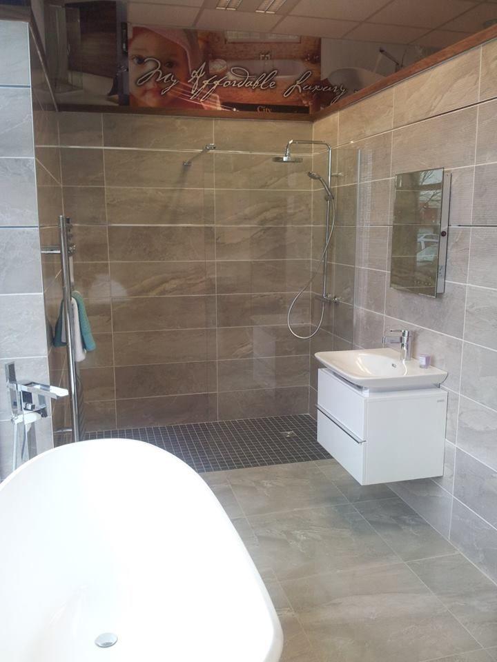 Modern wetroom, Laufen and Victoria and Albert bath