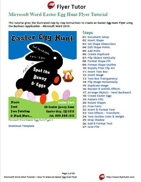 microsoftword #msword #pdf #easter Microsoft Word 2010 Easter Egg - flyer format word