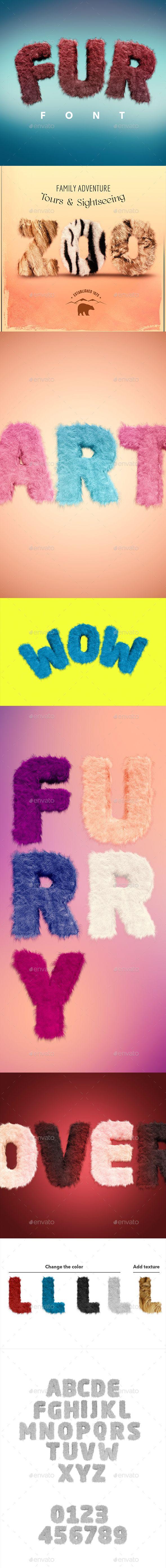 Fur Font — Photoshop PSD #fur texture #font • Download ➝ https://graphicriver.net/item/fur-font/19933226?ref=pxcr