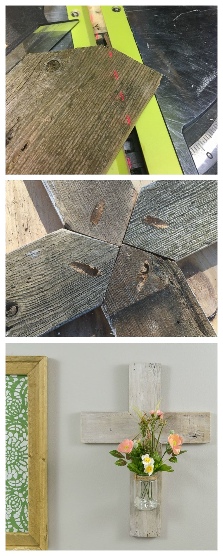 Unfinished wooden crosses for crafts - Rustic Whitewashed Wooden Cross