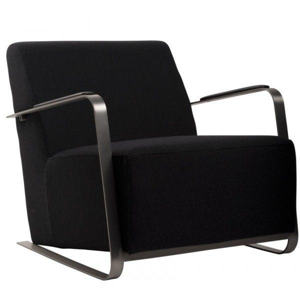 ADWIN Fauteuil Zwart vilt Zuiver Design - DesignOnline24.nl