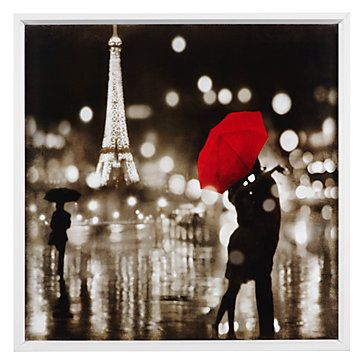Contemporary photography captures romantic moments caught in time. Paris Kiss by Kate Carrigan. $99.95  #ZGallerie