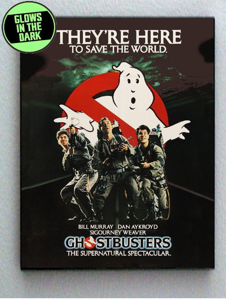 Original Ghostbusters 1984 Glow In The Dark Framed Cool Blacklight Mini Movie Poster
