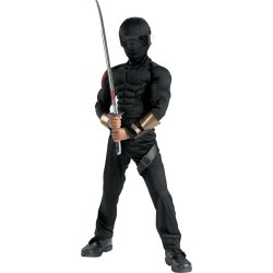 Snake Eyes GI Joe Muscle Child Halloween Costume