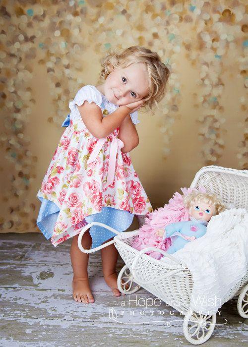 Girls Dress PDF Sewing Pattern  Handkerchief Dress by tiedyediva