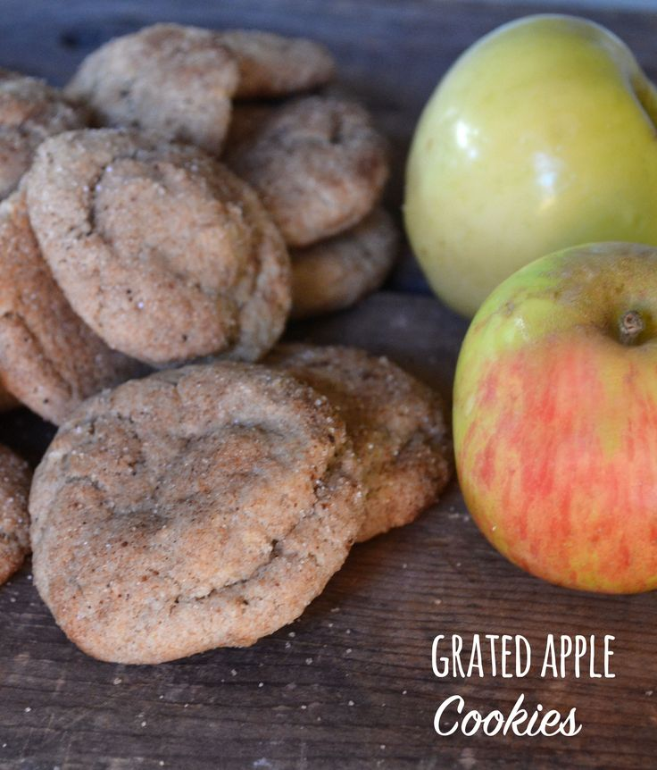 Grated Apple Cookies - Apple may not be as traditional as the typical oatmeal raisin or chocolate chip, but you'll be glad you took the leap and gave these apple cookies a try.