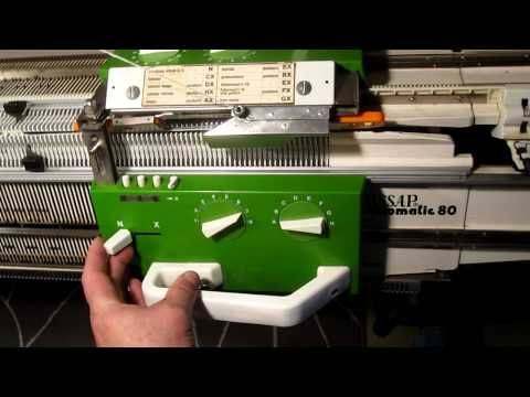 How to use a passap dm 80 | plain knit and rib on a knitting machine | - YouTube