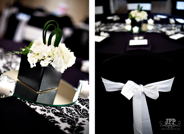 Wedding Reception Decor Black And White : Best images about black gold event on