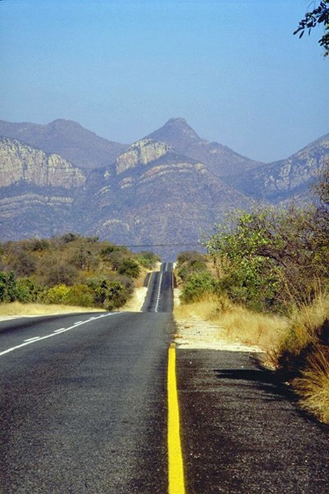 Road to Eastern Transvaal , Mpumalanga - Driving in South Africa: miles of…