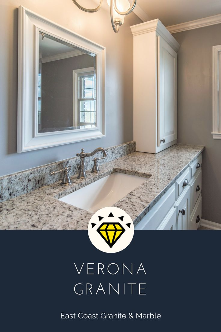 View our bathroom gallery to begin the planning process for your bathroom remodel. We also have free design tools to visualize your new bathroom!  Visit us at www.eastcoastgranitecolumbia.com to see more of our work.    #granitecountertops #countertops #bathroomcountertops #bathroomdesign #bathroomremodel #columbiacountertops #granite  #Verona #VeronaGraniteBathroomCountertops #VeronaHomeDesign #bathroomideas
