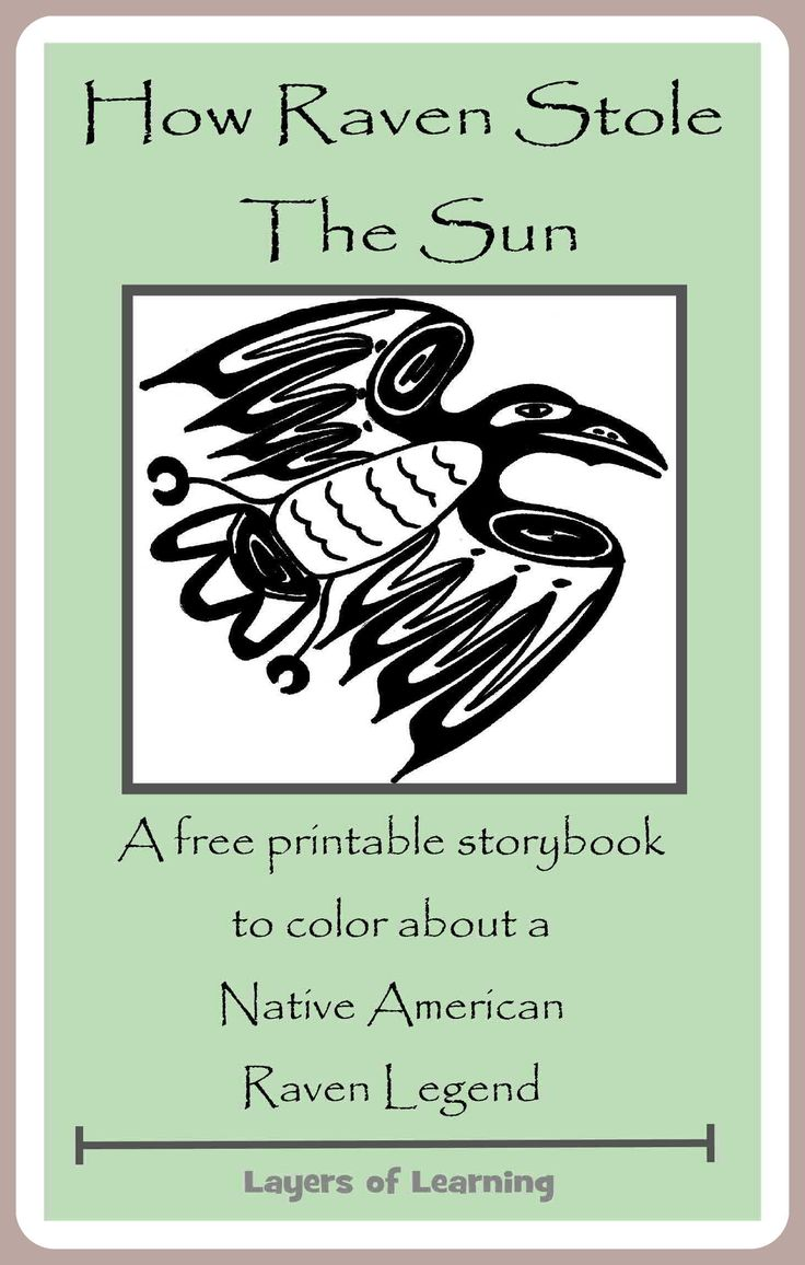 A free printable booklet of my favorite Raven legend, How Raven Stole The Sun, for kids to illustrate.