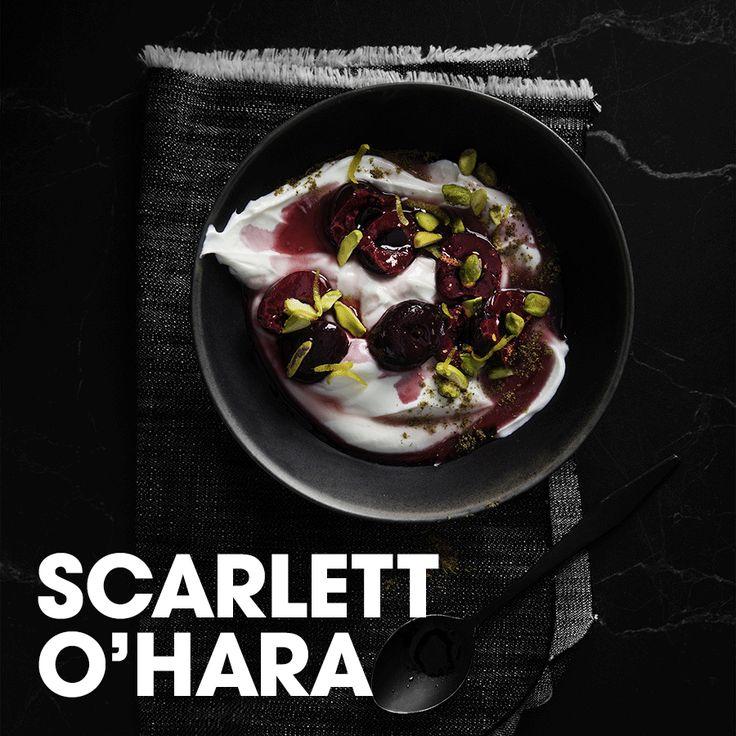 Scarlett O'Hara #yogourt #bol #chai #cerise #pistache #lime #cassis