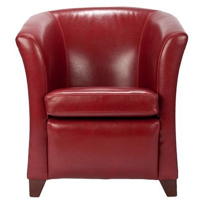 Safavieh Lorraine Tub Chair Mulberry from Target ($400)  wood and bi-cast leather