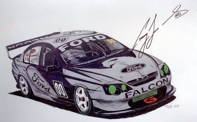 Craig Lowndes or Mr Smiley as he's mostly known as and the Green Eyed Monster, his AU Falcon