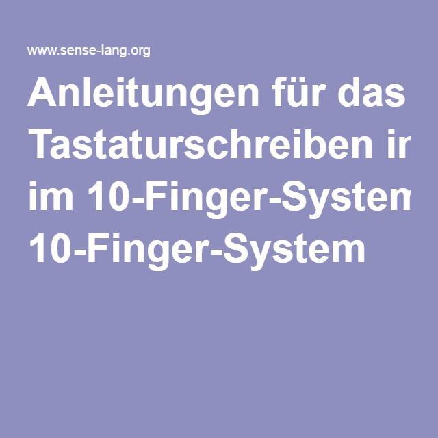 Anleitungen für das Tastaturschreiben im 10-Finger-System
