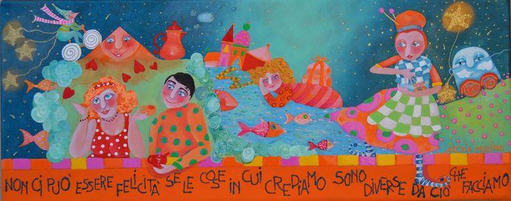 Alexia Molino - Non ci può essere felicità se le cose in cui crediamo sono diverse da ciò che facciamo (20x50)