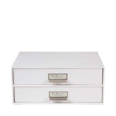 Byrå med två lådor Birger, White