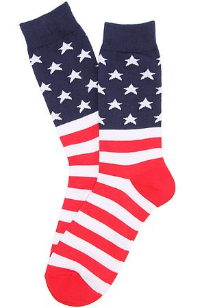 K.Bell Socks American Flag Crew Socks in Red, White, & Blue