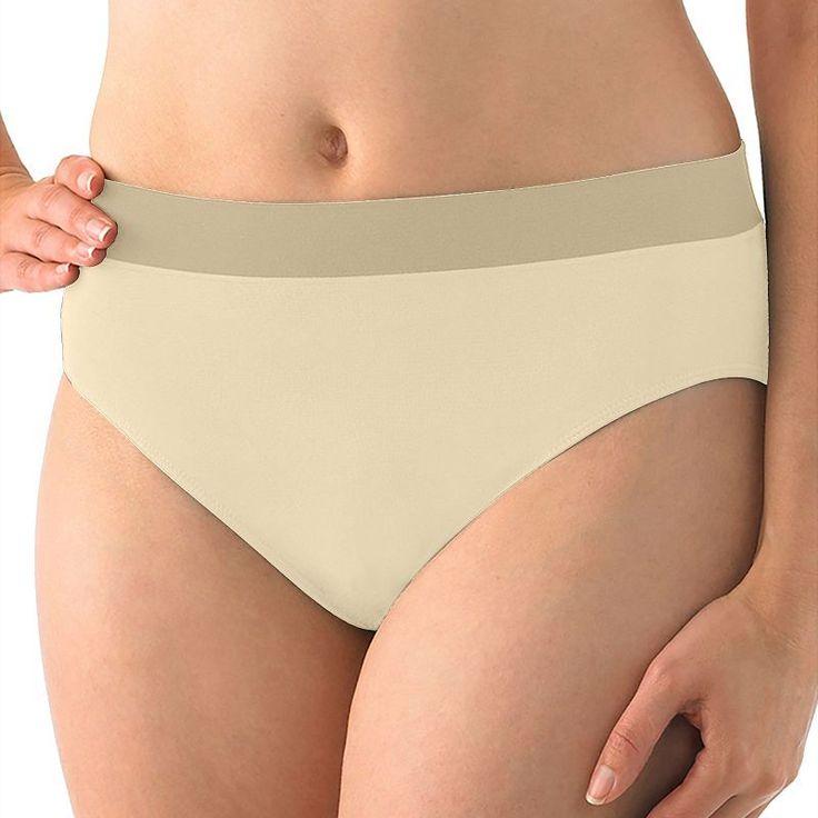 Jockey Microfiber High-Cut Bikini Panty 2042, Women's, Size: 7, Dark Beige