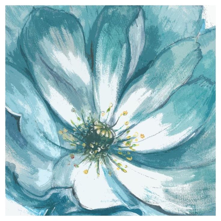 This hand rendered floral painting will add a touch of vibrancy to any space. #canvas #bluemonday