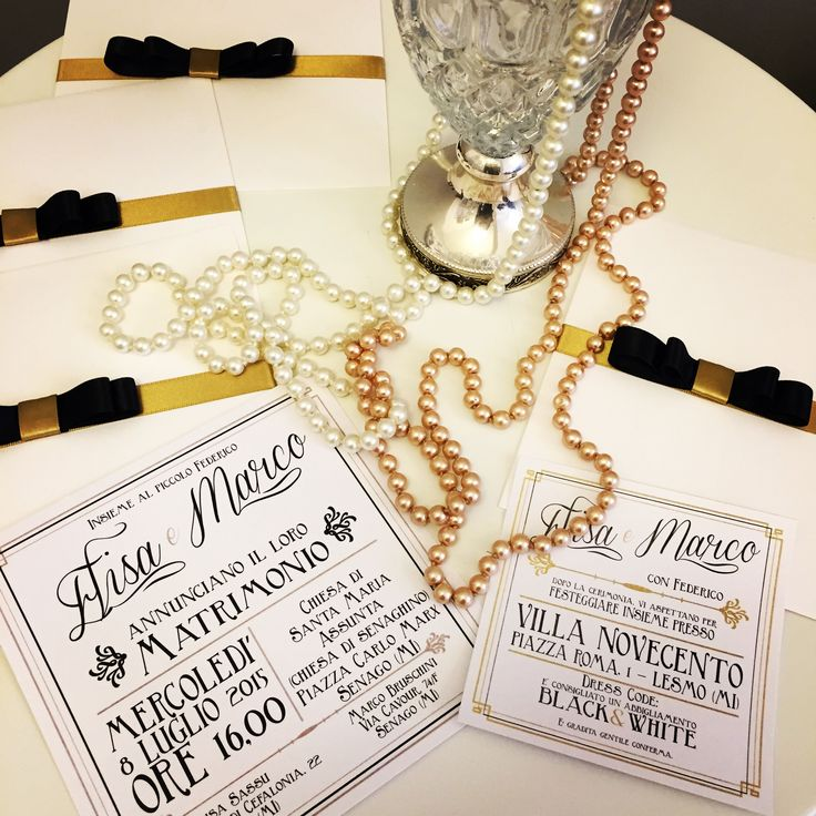 great gatsby partecipazione wedding stationery