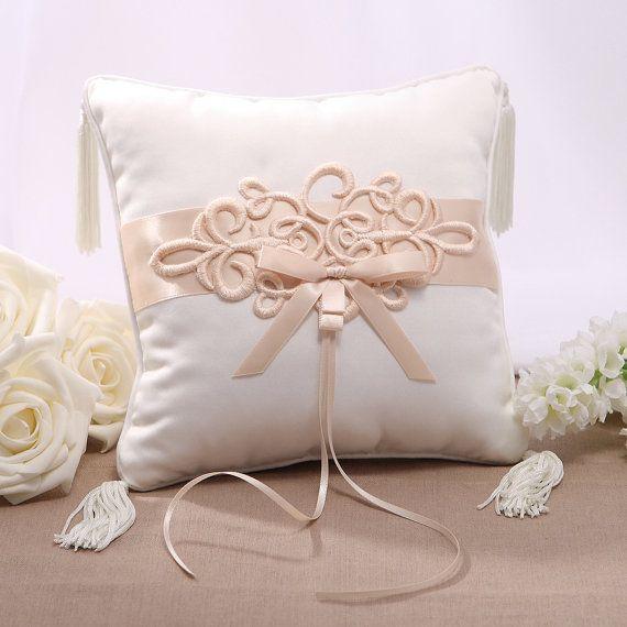 Raso di nozze anello cuscino/Cuscino ricamato - Free spedizione in tutto il mondo!