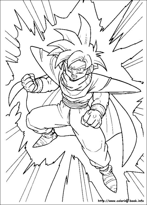 Dragon Ball Z Son Gohan Ready To Fight Coloring Pages For Kids Printable