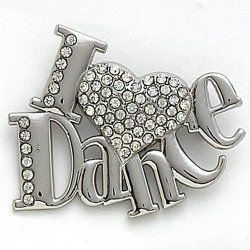 2602 I Love Dance Pin