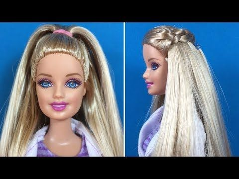 Barbie Hairstyles Tutorial Barbie Hair Transformation How To Make Barbie Hairstyle #6 - YouTube