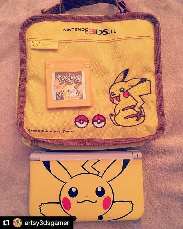 Pikachu  Credit @artsy3dsgamer  #pikachu  #games #nintendo #pokemon #pokemonyellow #pika #3ds #ds #gameboy #gameboycolor #retrogames