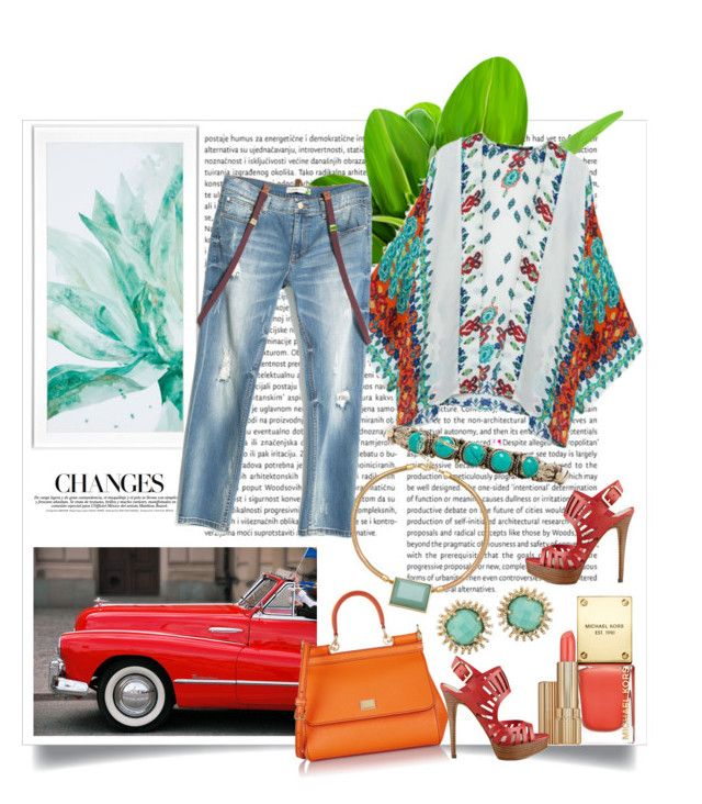 """""""Kimono and Jeans Summertime"""" by prettyinjewels ❤ liked on Polyvore"""
