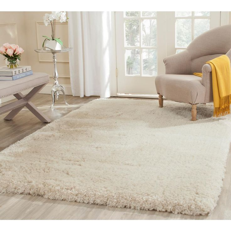 Safavieh Arctic Shag Beige 7 ft. 6 in. x 9 ft. 6 in. Area Rug-SG270V-8 - The Home Depot