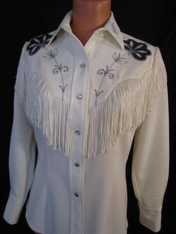 VIVA LAS VEGAS classic vintage western shirt - H Bar C Taos - fancy rockabilly cowgirl - sz m