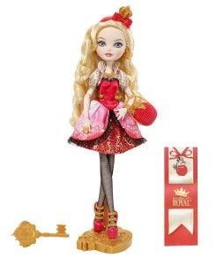 Ever After High Dolls: Apple White Doll Apple White doll is the daughter of Snow White.  Comes with a doll stand, signature-styled headpiece, detailed jewelry, handbag, pair of spellbinding shoes and doll hairbrush. http://awsomegadgetsandtoysforgirlsandboys.com/ever-after-high-dolls/ Ever After High Dolls: Apple White Doll